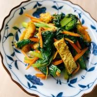 青菜のカレー炒め