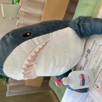 ikeaサメ+アルコール消毒